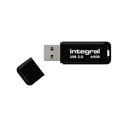 Integral Black Noir USB 3.0 Memory Stick 64GB