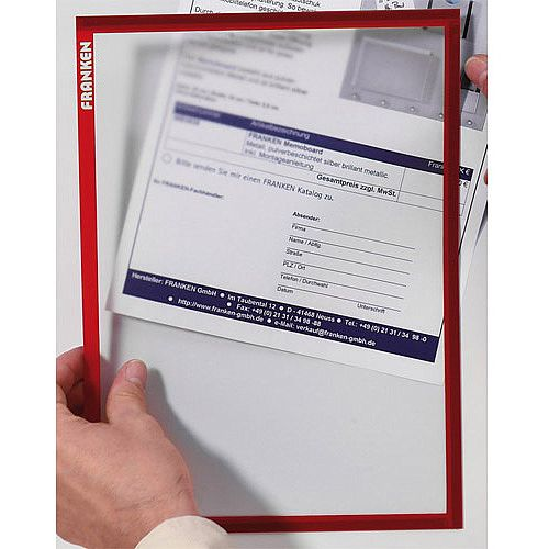 Franken Magnetic Document Holder ValueLine A3 Red ITSA3M 01