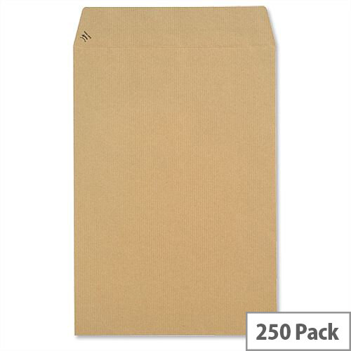 New Guardian 130gsm Envelopes C4 Manilla  Pocket Peel and Seal Heavyweight (Pack 250)