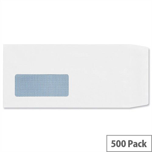 Plus Fabric White DL Window Envelopes Self Seal Pocket 110gsm Pack of 500