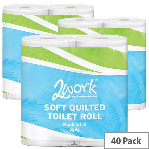 Luxury White 2-Ply Toilet Roll (Pack of 40) DQ4PK