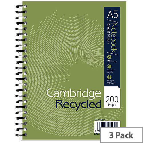 Cambridge Recycled A5 Notebook Plus 200 Pages 100080106
