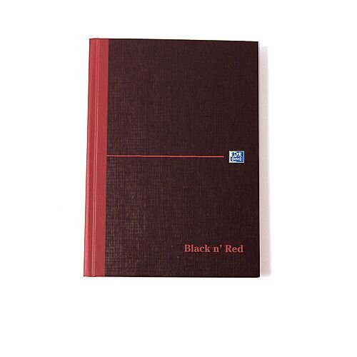 Black n Red Casebound Manuscript Book 192 Pages A5 Single Cash 100080414
