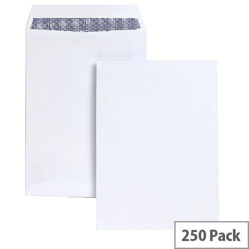 White Box C4 Envelope White Pocket Press Seal 100gsm (Pack of 250)