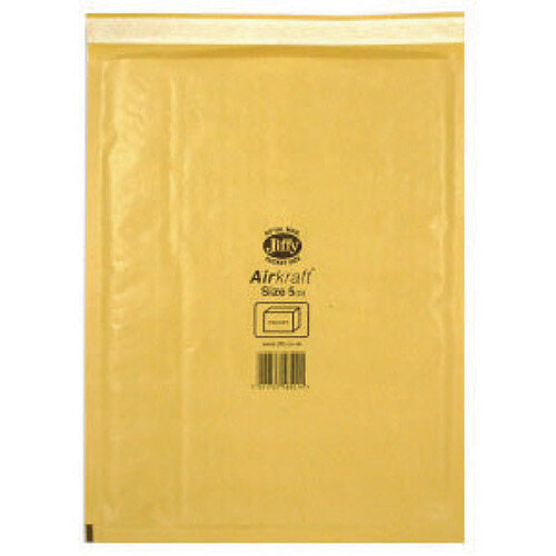 Jiffy AirKraft Mailer Size 5 260 x 345mm Gold GO-5 Pack of 10 MMUL04605