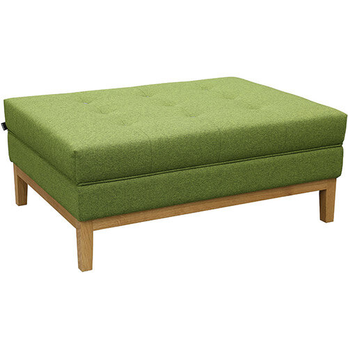 Frovi JIG MODULAR Seating Ottoman With Natural Oak Frame H425xW1040xD760mm - Fabric Band G