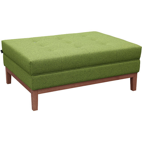 Frovi JIG MODULAR Seating Ottoman With Stained Walnut Frame H425xW1040xD760mm - Fabric Band I