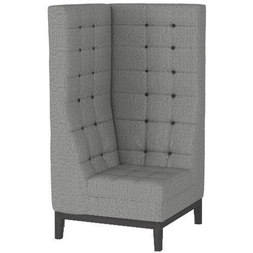 Frovi JIG MODULAR HIGH Seating Corner Unit With Black Oak Frame H1470xW760xD760mm 430mm Seat Height - Fabric Band B