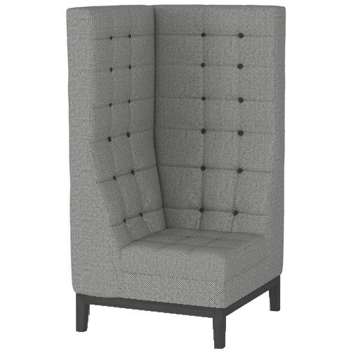 Frovi JIG MODULAR HIGH Seating Corner Unit With Black Oak Frame H1470xW760xD760mm 430mm Seat Height - Fabric Band F