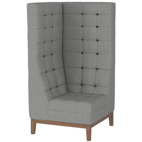 Frovi JIG MODULAR HIGH Seating Corner Unit With Stained Walnut Frame H1470xW760xD760mm 430mm Seat Height - Fabric Band C