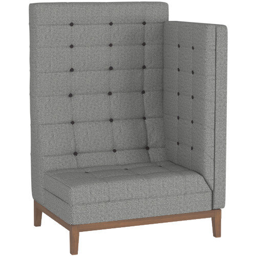 Frovi JIG MODULAR HIGH Seating Left End Unit With Stained Walnut Frame H1470xW1040xD760mm 430mm Seat Height - Fabric Band F