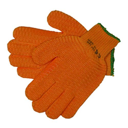 "JSP Orange Gripper Work Gloves Size 10 Large 9""- 10"" Pack 1 EN420"