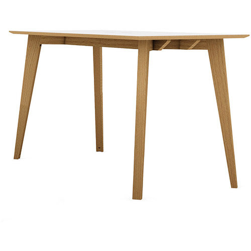 Frovi JIG SOCIAL Poseur Bench Table With 4 Leg Natural Oak Frame W3600xD900xH1050mm