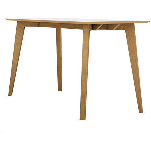 Frovi JIG SOCIAL Poseur Bench Table With Power Module &4 Leg Natural Oak Frame W2100xD1200xH1050mm