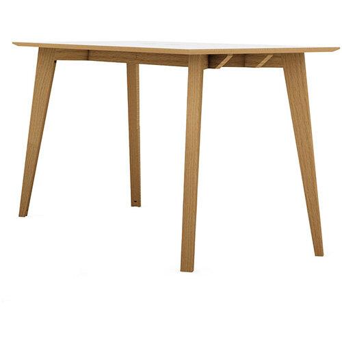 Frovi JIG SOCIAL Poseur Bench Table With Power Module &4 Leg Natural Oak Frame W3600xD900xH1050mm