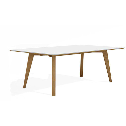 Frovi JIG SOCIAL Bench Table With 4 Leg Natural Oak Frame W2400xD1200xH740mm