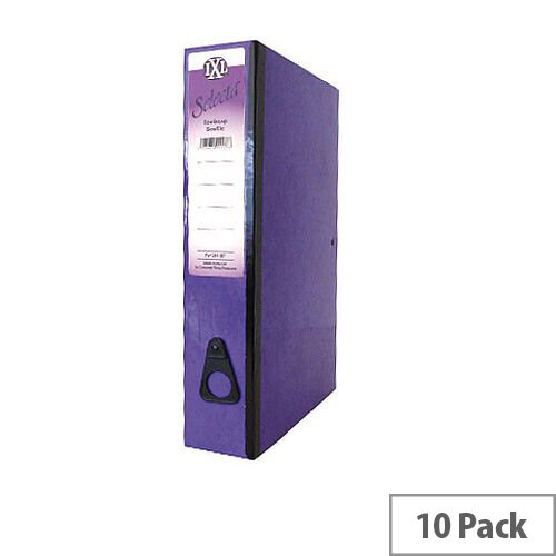 Concord IXL Selecta Box File Foolscap Purple 75mm Spine Pack of 10 264187