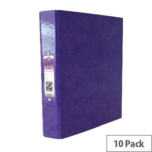 Concord Purple A4 Selecta IXL Ring Binders Pack of 10 462287