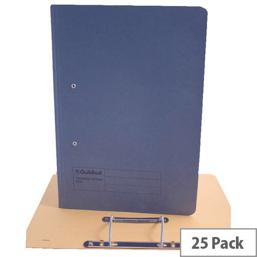Guildhall Blue Transfer File Foolscap Pack of 25