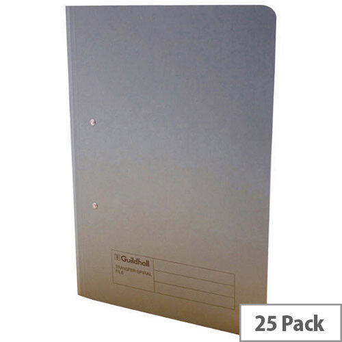 Guildhall Grey Transfer File Foolscap Pack of 25