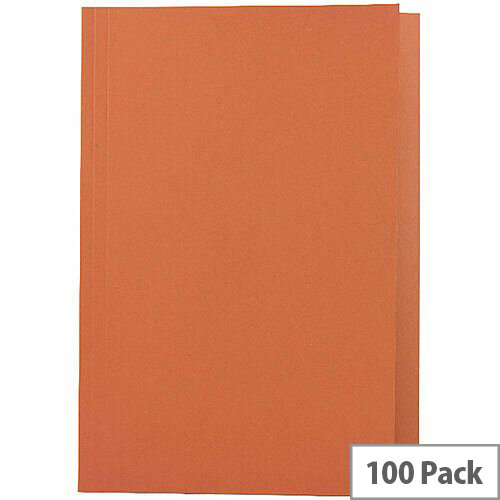 Guildhall Orange Square Cut Folder Foolscap Pack of 100 43206