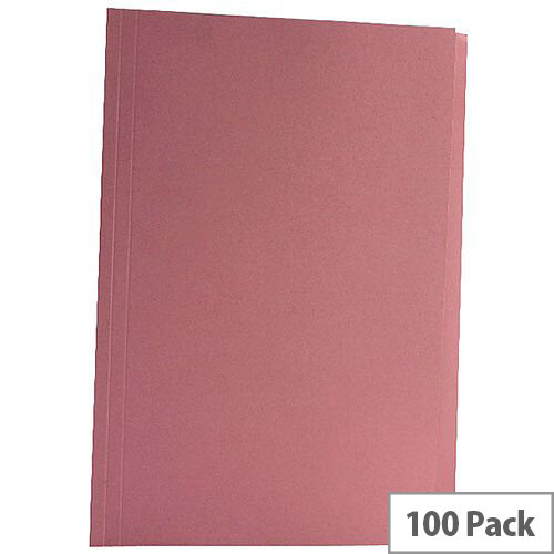 Guildhall Pink Square Cut Folder Pack of 100 43207