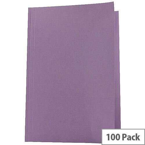 Guildhall Mauve Square Cut Folder Pack of 100 43214