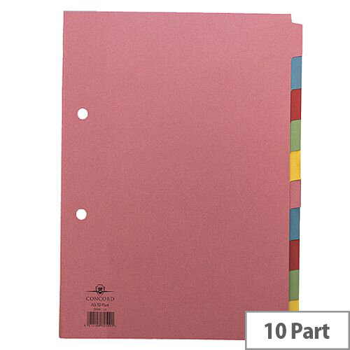 Concord Divider A5 10-Part Assorted J21