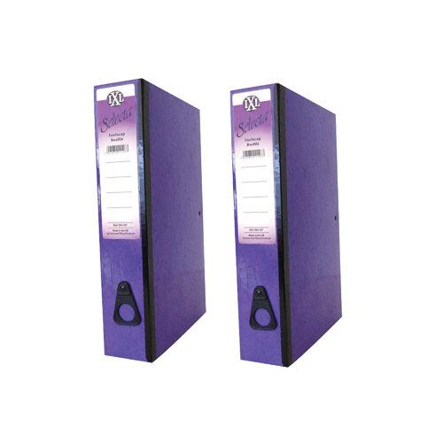 Concord IXL Selecta Box File Foolscap Purple Pack of 10 BOGOF JT816015