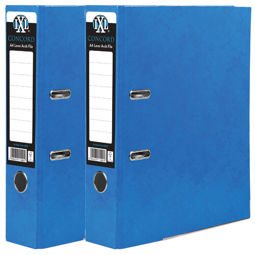 Concord IXL 70mm Selecta Lever Arch File A4 Blue Pack of 10 BOGOF JT816017