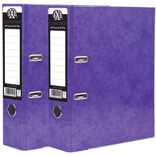 Concord IXL 70mm Selecta Lever Arch File A4 Purple Pack of 10 BOGOF JT816019