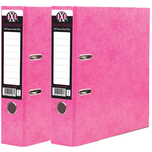 Concord IXL 70mm Selecta Lever Arch File A4 Pink Pack of 10 BOGOF JT816021