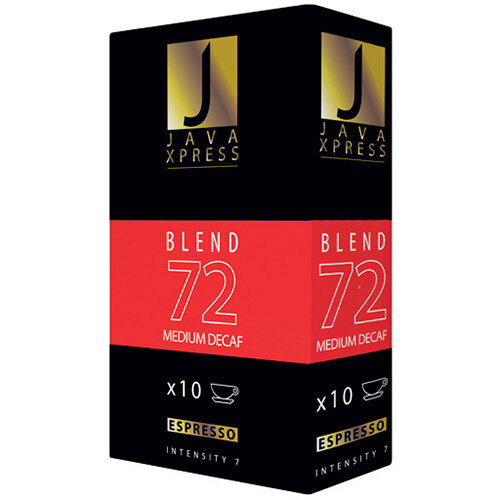 Java Xpress Blend 72 Decaf Coffee Capsules Pack of 100 JX1072