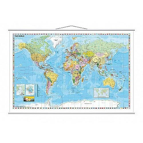 franken map board world laminated with metal bars 133000000 97 x 137cm