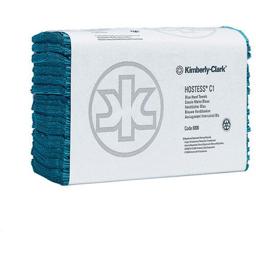 Hostess Hand Towel Blue Pack of 12 6876