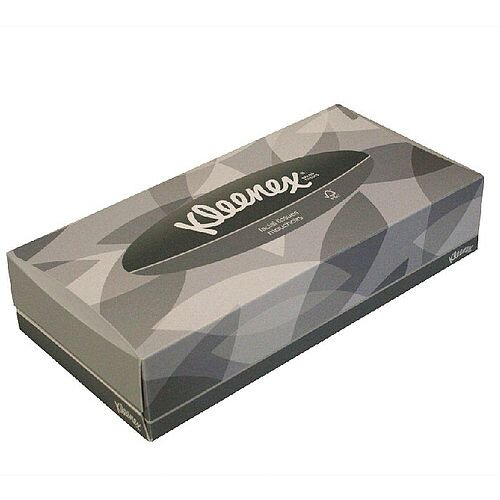 Kleenex Facial Tissues Flat Box 100 Sheets Pack of 21 Boxes 8835