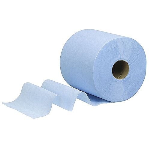 Kimberly-Clark WYPALL L10 Wipers Centrefeed Tissues Refill Paper Rolls 1 Ply Blue Rolls (Pack of 6) 7265