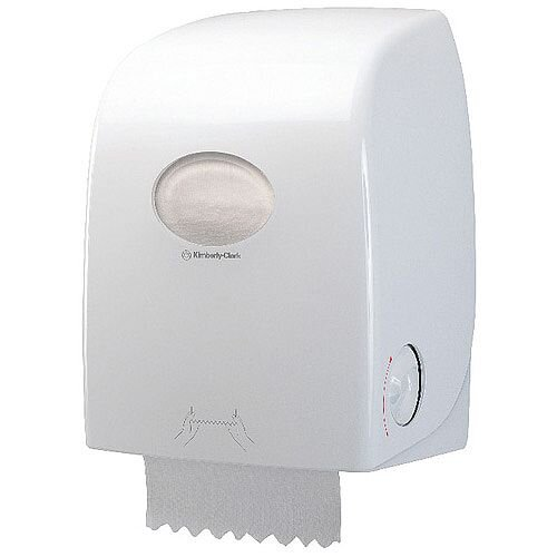 Kimberly Clark Aquarius White Rolled Hand Towel Dispenser 6959
