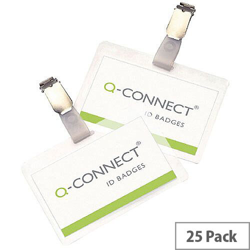 Q-Connect Hot Laminating Pouch 67x98mm ID Badge with Clips - Ideal For Use In Any Workplace. Laminating Pouch Encapsulates The Contents To Provide Quality Protection. Simple To Use &Supplied In Pack Of 25.