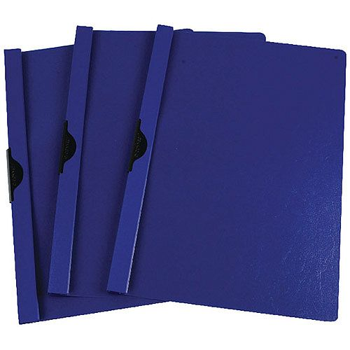 Quickclip File A4 6mm Pack of 25 Dark Blue Q-Connect