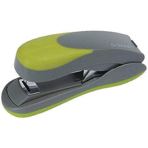 Q-Connect Softgrip Half Strip Stapler Green KF00992