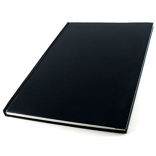 Q-Connect A4 Manuscript Book - Alphabetized Index For Ease Of Use. Features 96 Pages Of Feint Ruled Paper For Excellent Neatness. Ideal For Receptions, Offices, Schools, Colleges &More.