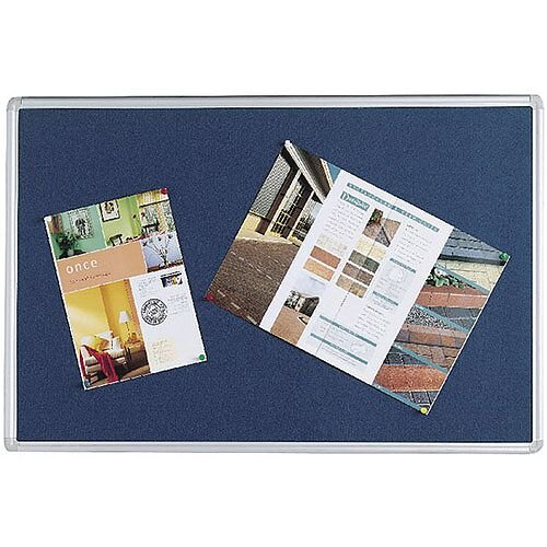 Q Connect Notice Board 900 x 600mm Aluminium Frame Blue