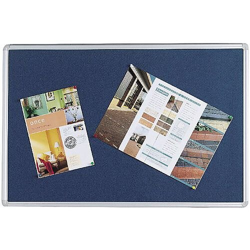 Q Connect Notice Board 1800 x 1200mm Aluminium Frame Blue