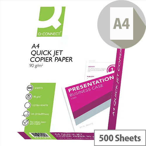 Q-Connect Quick Jet Printer Paper A4 90gsm White 500 Sheets
