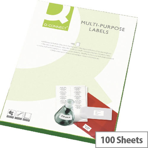 Q-Connect Multi-Purpose White Labels 99.1x38.1mm (1400 Labels)