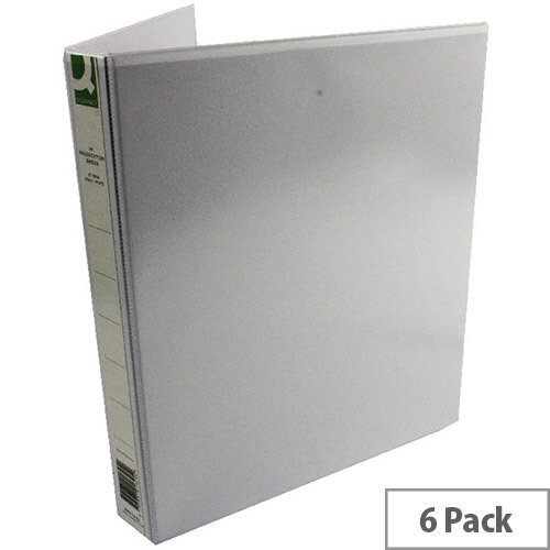 Q-Connect Presentation 4D-Ring Binder 25mm A4 White Pack 6