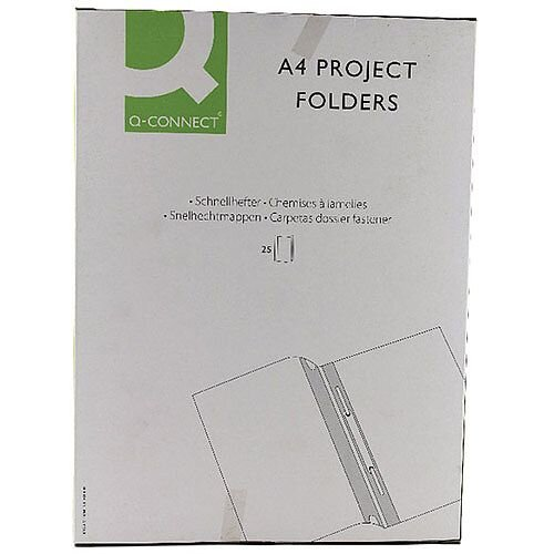 Project Folder A4 Blue Pack of 25 Q-Connect
