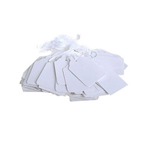Q-Connect Strung Ticket 30x21mm White Pack of 1000 KF01617