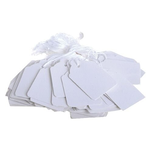 Q-Connect Strung Ticket 57x38mm White Pack of 1000 KF01621
